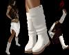 {DP} Flat Ivory Boots