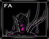 (FA)Collar Spikes Pink