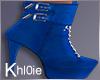 K cheer blue boots