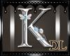 silver letter K