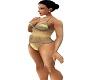 Gold 1 pc bathing suit