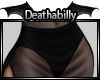 Black sheer Mini Skirt