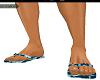 Flip Flops Camo Blue