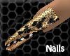 [J625]Nails long cheetah