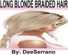 LONG BLONDE BRAIDED HAIR