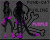 Punk-cat PURPLE ears