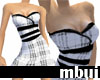 b&w spring dress