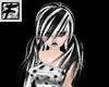 ~F~ BlkNwhite HarP hair