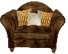 brown cuddle chairw/pose