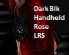 Dark Black Handheld Rose