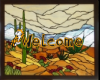 stainglass welcome sign