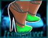 Glam Gown Shoes - NGreen