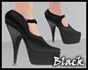 BLACK maryjane heels