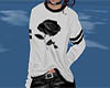 black/ white rose jumper