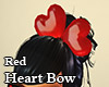Heart Bow Red