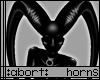 :a: Black PVC Long Horns