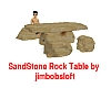 Sand Stone Rock Table