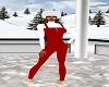 (F)Red & white Ski Suit