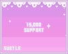 15,000 support sticker