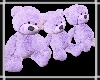 Teddy Trio Purple
