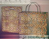 """ Leopard Shopping Bag"
