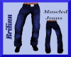 [B]Blue Muscled Jeans