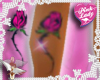 Pink Lady Leg Tattoo
