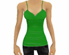 Green tank and jeans