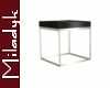 MLK Silver End Table