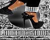 TheV Grey & Black Heels