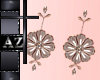 *az*flower earrings