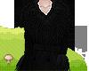Long Fur Coat Black