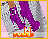 ! Purple Rain Boots