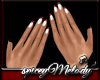 White Nails Red Tip