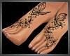 SL Butterfly Feet Tattoo