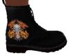 Skull Dragon Biker Boots