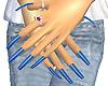Super Long Blue Nails