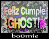 «B» Ghost gorro