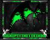 green & black wings
