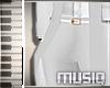 {M} White Pants
