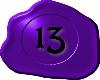 13 Purple with Black 13