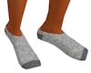 Gray Jersey Bootie Socks