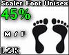 Scaler Foot Unisex 45%