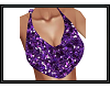 {G} Purple Glitter Top