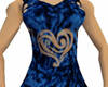 Velvet Heart Dress blue