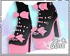 Black Neko Heels