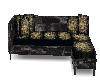 Black couch with cushons