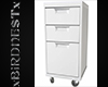 BN White File Cabinet