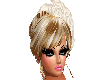 WHITE ROSE IN HAIR BLOND