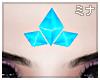 M| Tri Blue Crystal